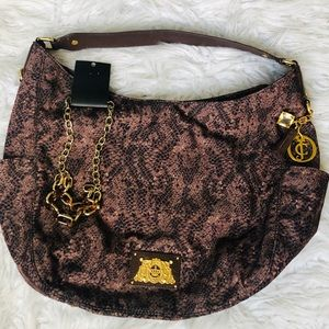 NWOT Juicy Couture snakeskin bag FREE necklace